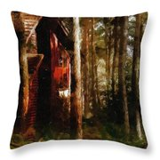 Forest In Fall Throw Pillow