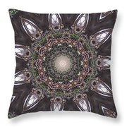Forest Mandala 1 Throw Pillow