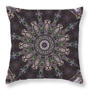 Forest Mandala 3 Throw Pillow