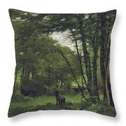 Forest Of Fontainebleau Throw Pillow