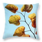 Forest Pansy Autumn Throw Pillow
