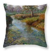 Forest Park Lily Pads Throw Pillow