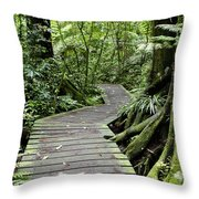 Forest Trail Throw Pillow