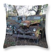 Forever Parked Throw Pillow