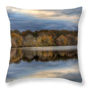 Forge River In Fall Throw Pillow