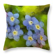 Forget-me-not Flower Throw Pillow