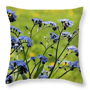 Forget-me-nots Throw Pillow