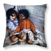 Forgotten Dolls Study IIi Throw Pillow by Norma Warden