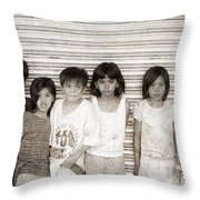 Forgotten Faces 1 Throw Pillow