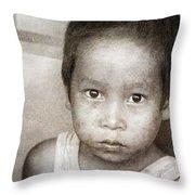 Forgotten Faces 12 Throw Pillow