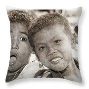 Forgotten Faces 13 Throw Pillow