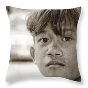 Forgotten Faces 16 Throw Pillow