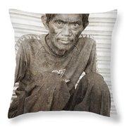 Forgotten Faces 3 Throw Pillow