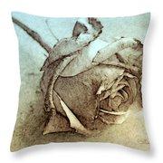 Forgotten Rose Throw Pillow