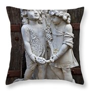 Forgotten Statue Throw Pillow