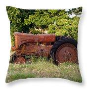 Forgotten Tractor 23 Throw Pillow
