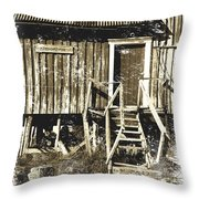 Forgotten Wooden House Throw Pillow