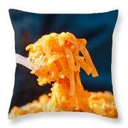 Forkful Of Thai Throw Pillow