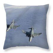 Formation Of Luftwaffe F-4f Phantom IIs Throw Pillow