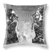 Forsyth Fountain - Black And White 4 Throw Pillow