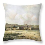 Fort Bridger, Wyoming, 1852 Throw Pillow