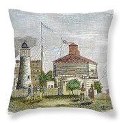 Fort Dearborn, 1830 Throw Pillow
