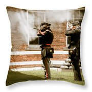 Fort Delaware Military Throw Pillow
