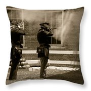 Fort Delaware Soldiers Throw Pillow