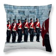 Fort Henry Guards Drill Throw Pillow