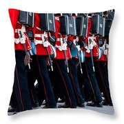 Fort Henry Guards Marching Throw Pillow