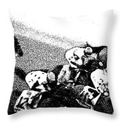 Fort Larned Pulls Ahead Throw Pillow