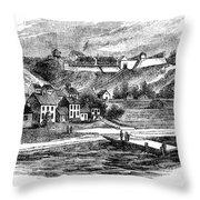 Fort Mackinac, C1814 Throw Pillow