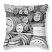Fort Macon Food Supplies Bw 9070 3759 Throw Pillow by Michael Peychich