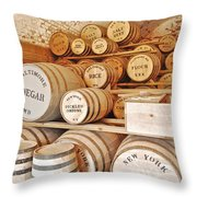 Fort Macon Food Supplies_9070_3759 Throw Pillow