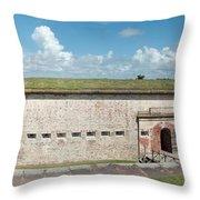 Fort Macon Panorama 1 Throw Pillow