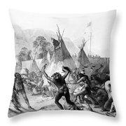 Fort Mckenzie, 1833 Throw Pillow by Granger