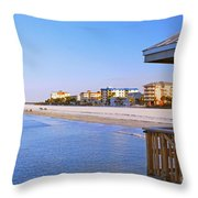 Fort Myers Beach Throw Pillow