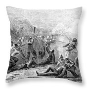 Fort Pillow Massacre, 1864 Throw Pillow