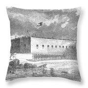 Fort Pulaski, Georgia, 1861 Throw Pillow