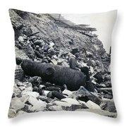 Fort Sumter Civil War Debris - C 1865 Throw Pillow