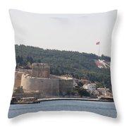 Fortress Canakkale And War Memoriel - Dardanelles Throw Pillow