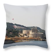 Fortress Canakkale - Dardanelles Throw Pillow
