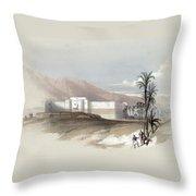 Fortress Of Akabah Arabia Petra 1839 Throw Pillow