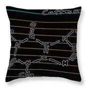 Fortunately He Discovers Caffeine In Time Throw Pillow