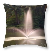 Fountain And Palms Throw Pillow