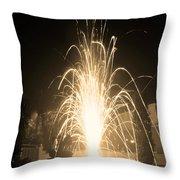 Fountain Firework Throw Pillow