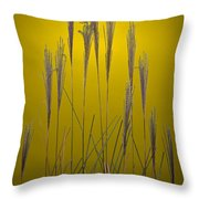 Fountain Grass In Yellow Throw Pillow