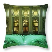 Fountain In Front Of A Government Throw Pillow