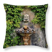 Fountain In The Walled Garden, Florence Throw Pillow
