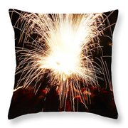 Fountain Of Sparks Throw Pillow